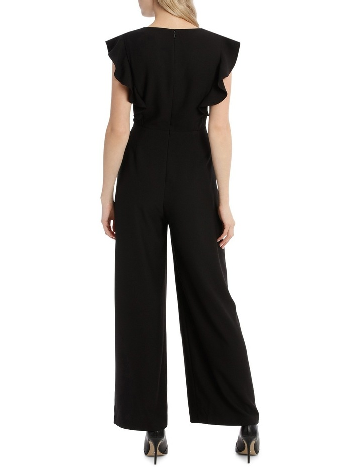 Button Front Flutter Sleeve Jumpsuit image 3