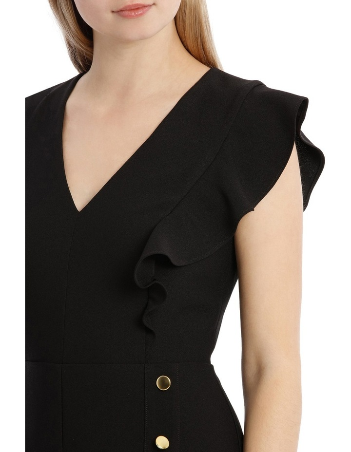 Button Front Flutter Sleeve Jumpsuit image 4