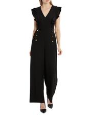 Tokito Petites - Button Front Flutter Sleeve Jumpsuit