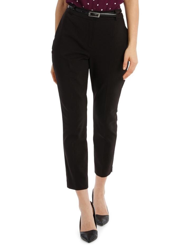 Cropped Belted Pant - Black image 1