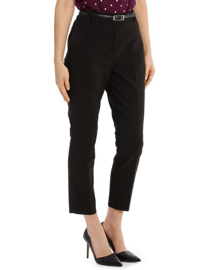 Cropped Belted Pant - Black image 2