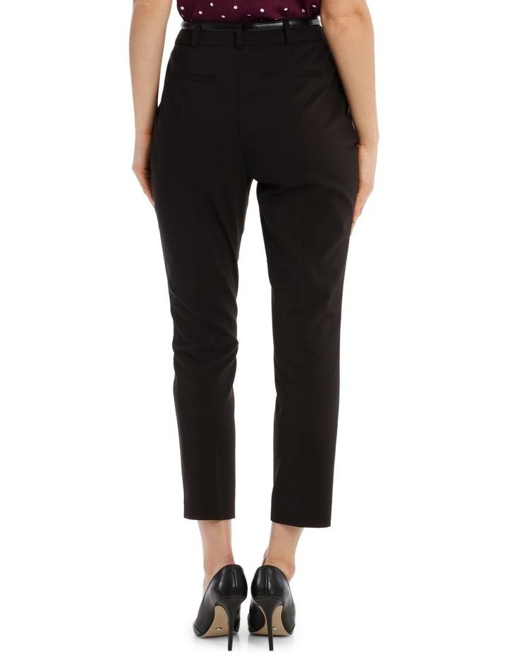 Cropped Belted Pant - Black image 3