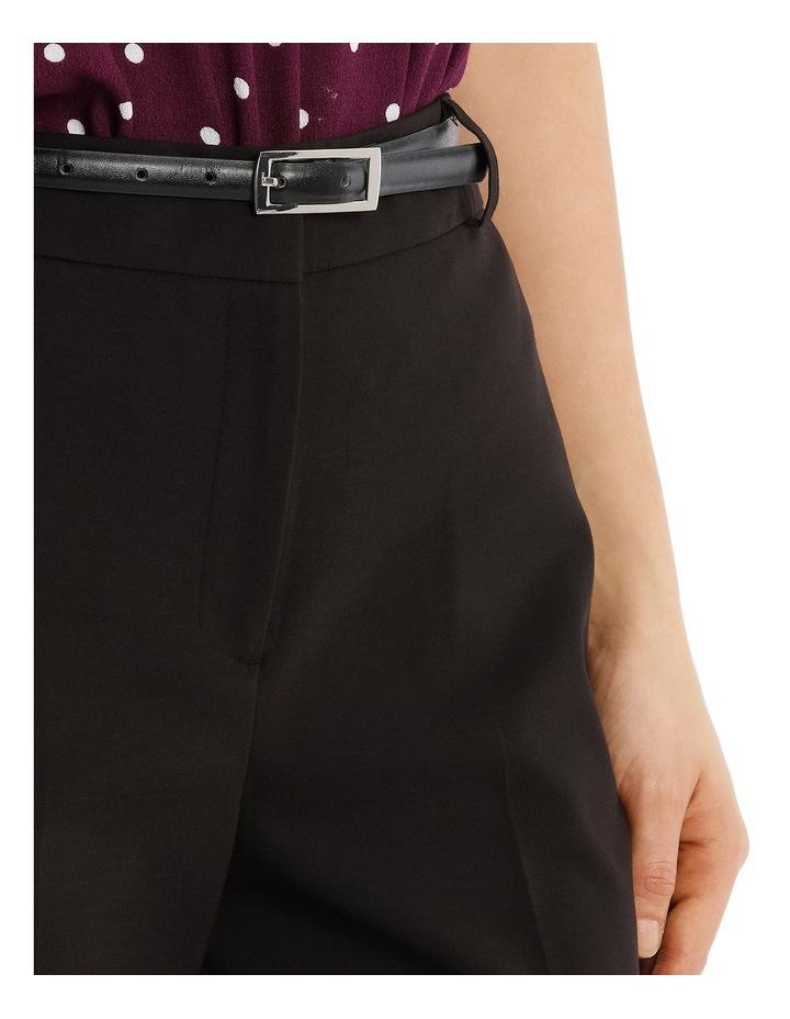 Cropped Belted Pant - Black image 4