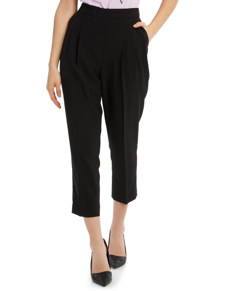 Tapered Cropped Pant - Black image 1