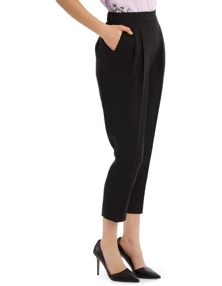 Tapered Cropped Pant - Black image 2