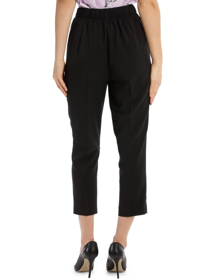Tapered Cropped Pant - Black image 3