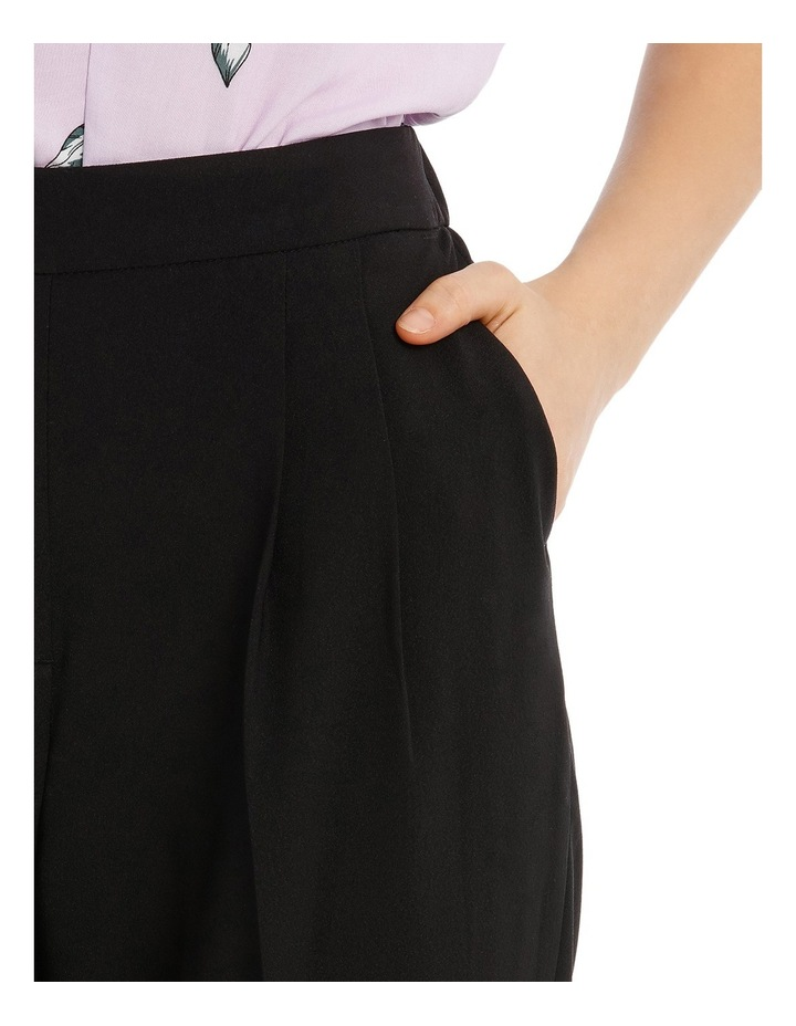 Tapered Cropped Pant - Black image 4