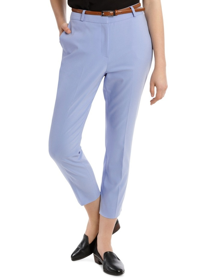 Cropped Belted Pant - Blue image 1