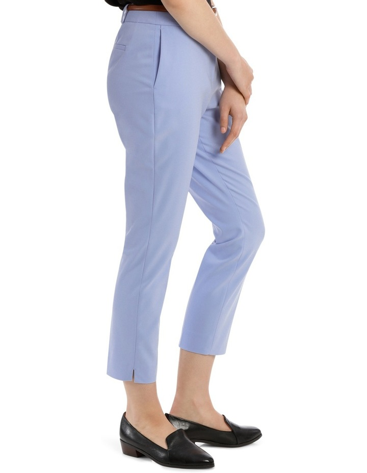 Cropped Belted Pant - Blue image 2