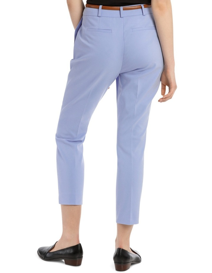Cropped Belted Pant - Blue image 3