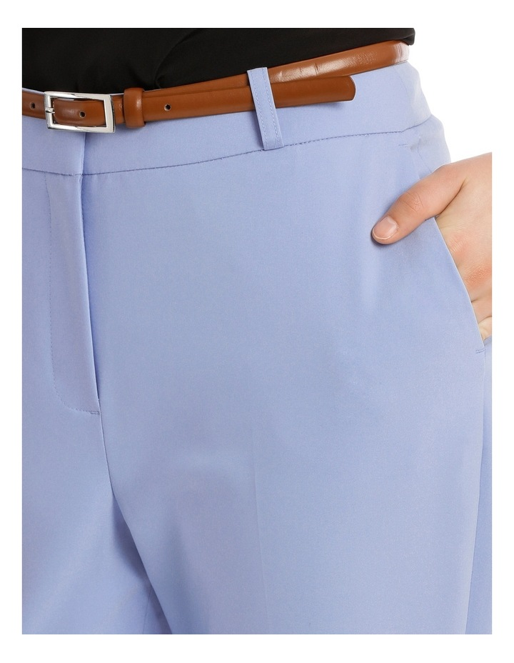 Cropped Belted Pant - Blue image 4