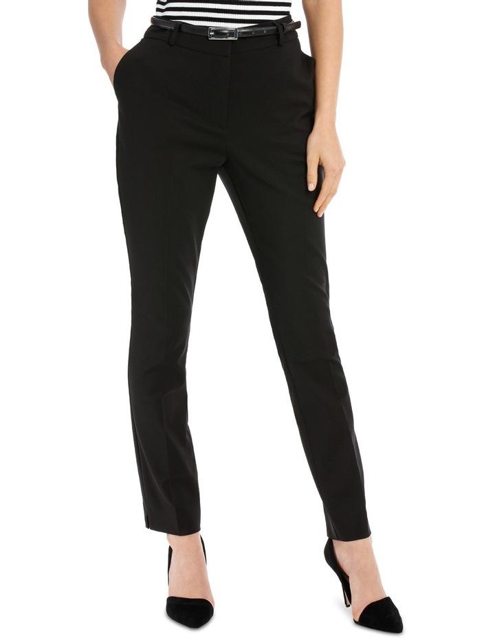 Chloe Belted Smart Pant - Black image 1