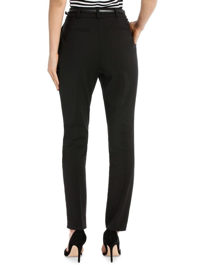 Chloe Belted Smart Pant - Black image 3