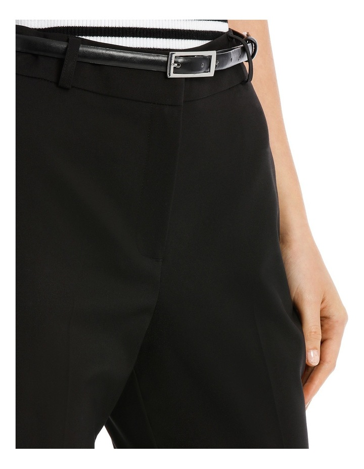 Chloe Belted Smart Pant - Black image 4