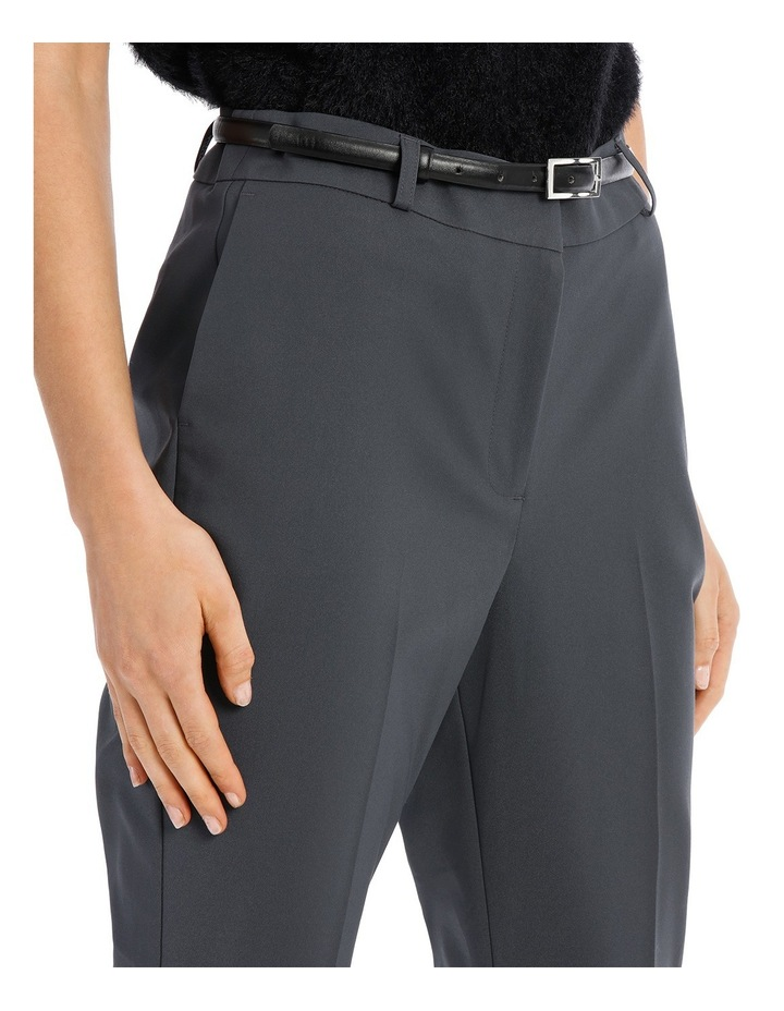 Chloe Belted Smart Pant - Charcoal image 4