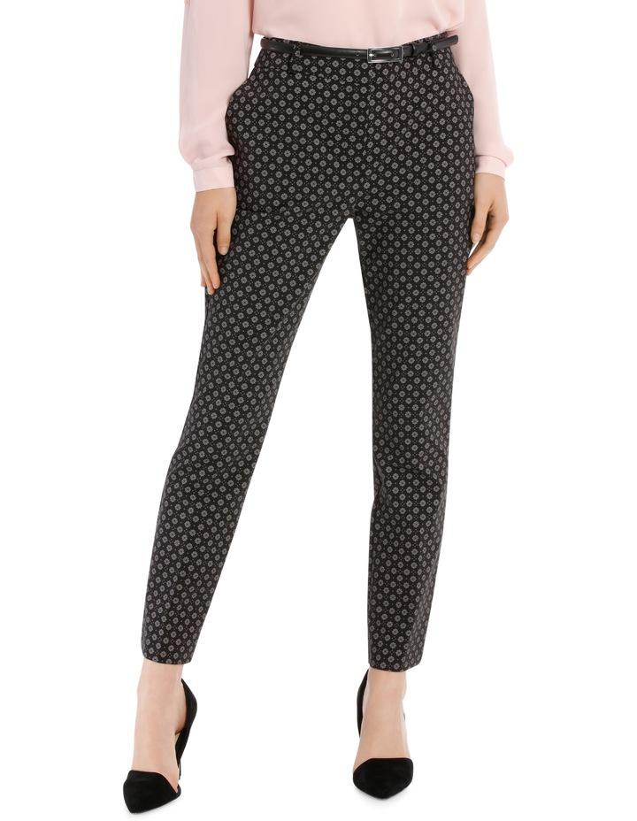 Chloe Belted Smart Pant - Tile Print image 1