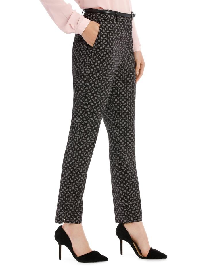 Chloe Belted Smart Pant - Tile Print image 2