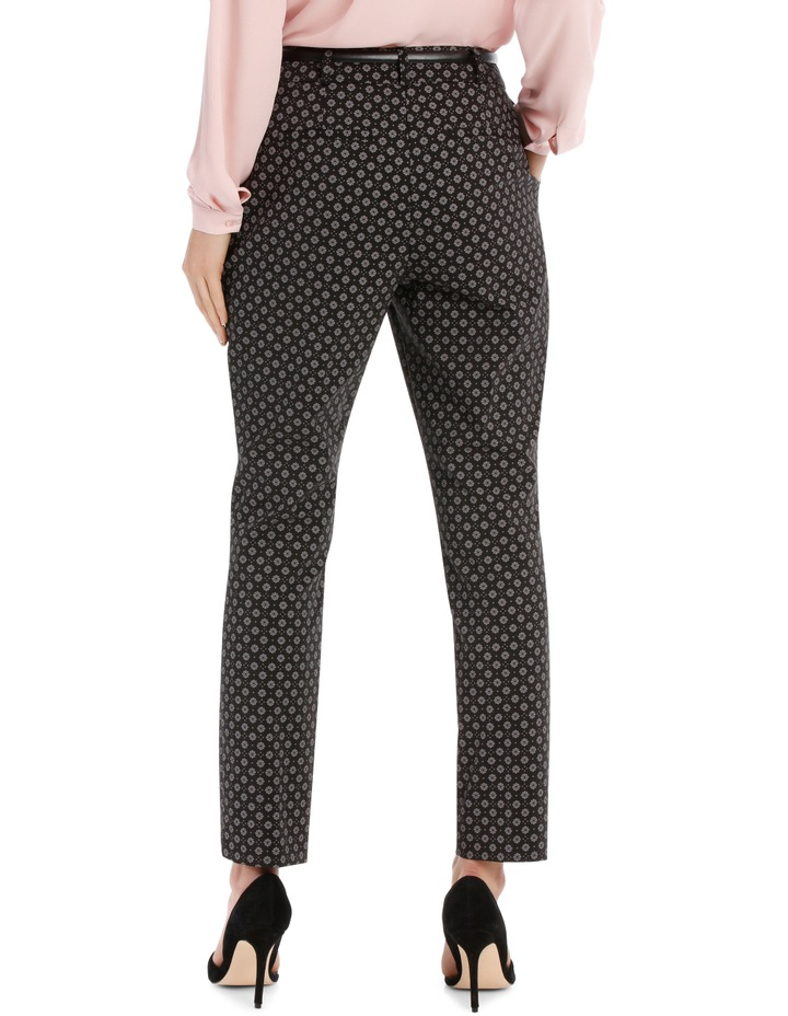 Chloe Belted Smart Pant - Tile Print image 3
