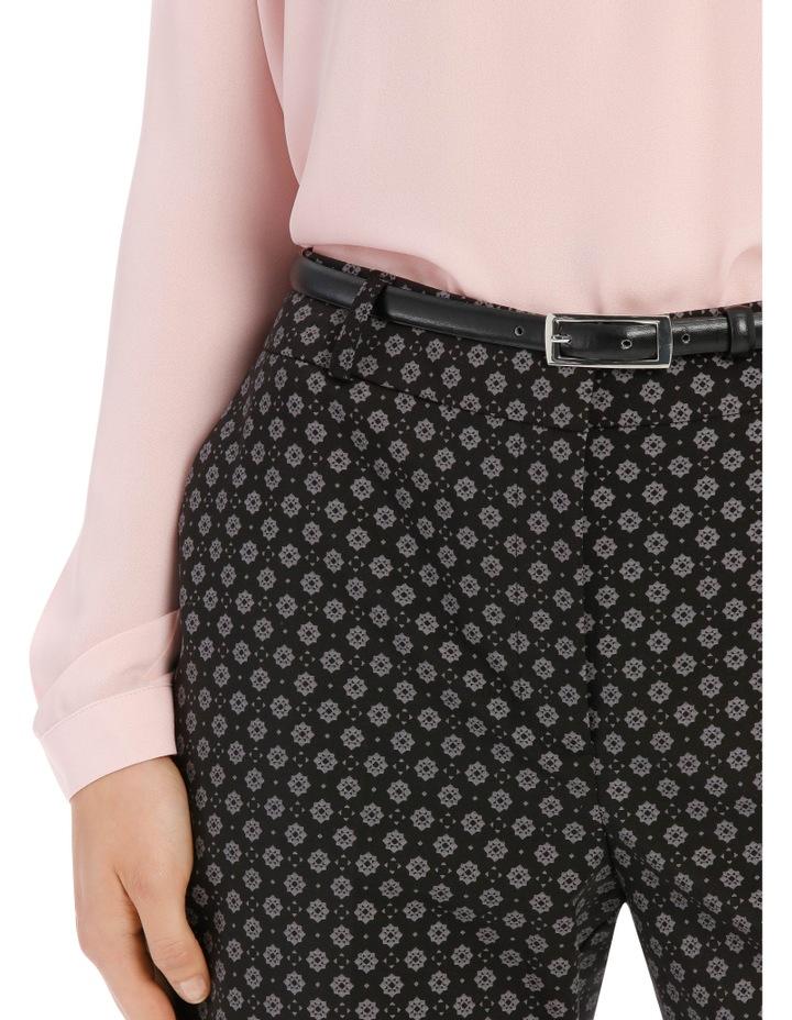 Chloe Belted Smart Pant - Tile Print image 4