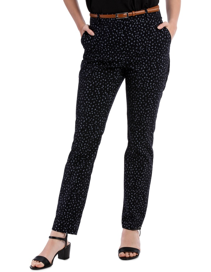 Chloe Belted Smart Pant - Smudge Spot image 1
