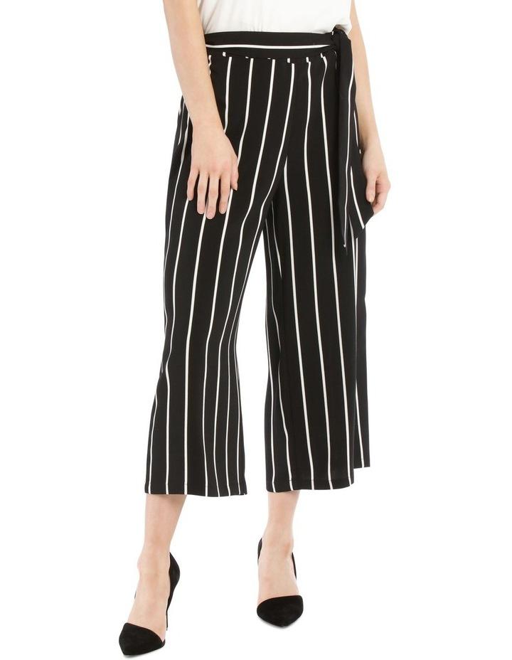Tie Waist Culotte - Stripe image 1