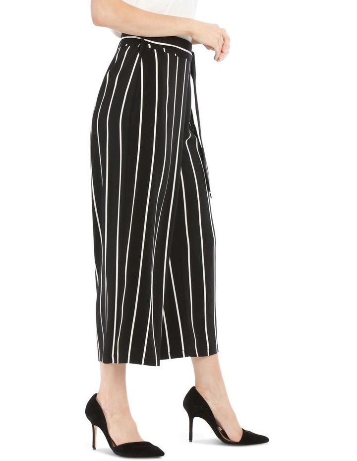 Tie Waist Culotte - Stripe image 2