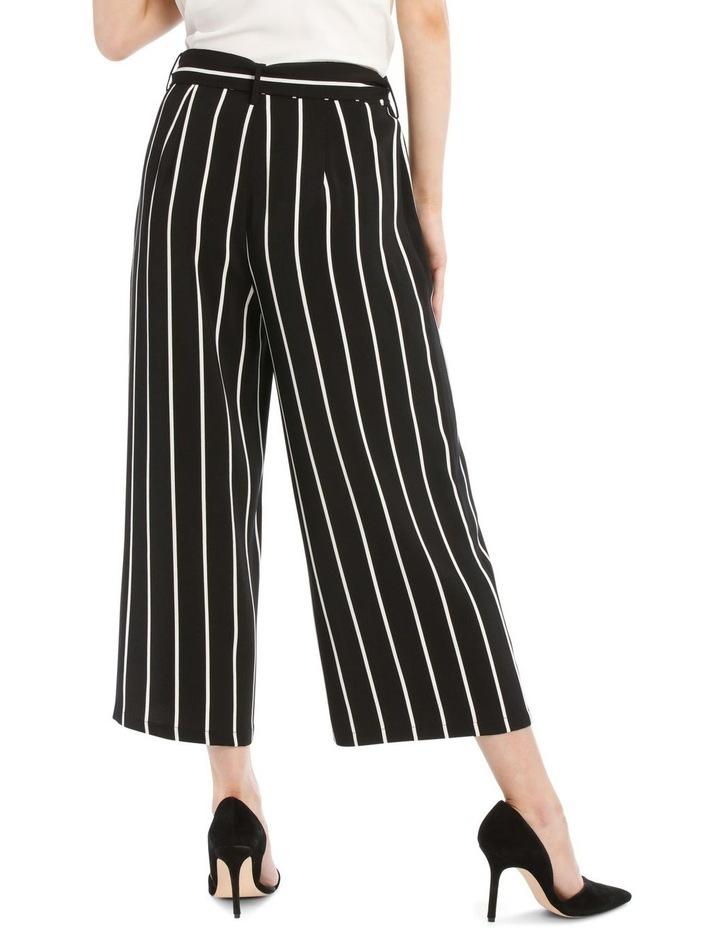 Tie Waist Culotte - Stripe image 3