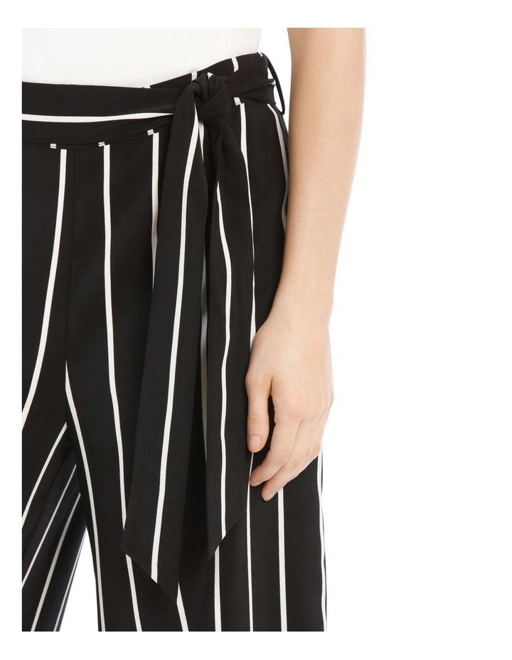 Tie Waist Culotte - Stripe image 4