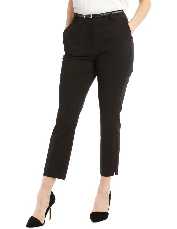 Chloe Cropped Belted Pant - Black image 1