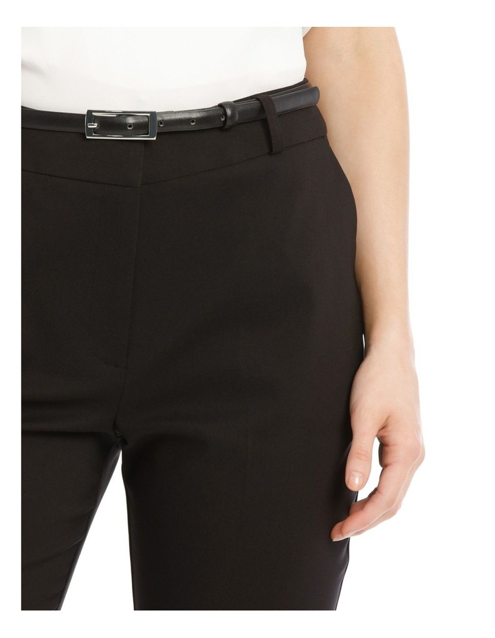 Chloe Cropped Belted Pant - Black image 4