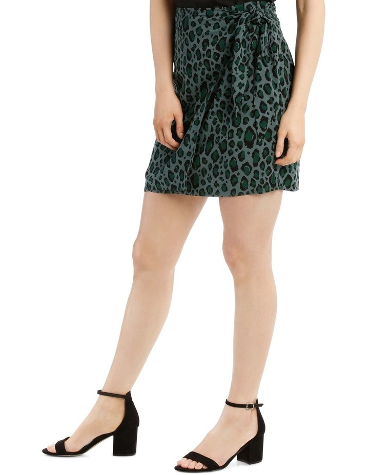 Graphic Animal Wrap Skirt image 2