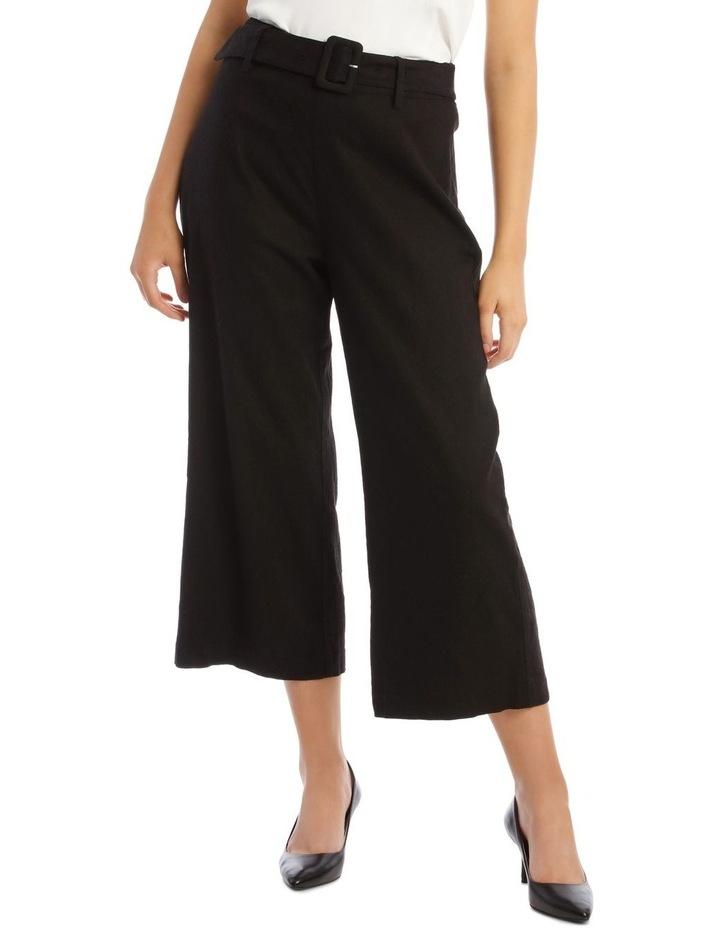 Belted Linen Culotte image 1