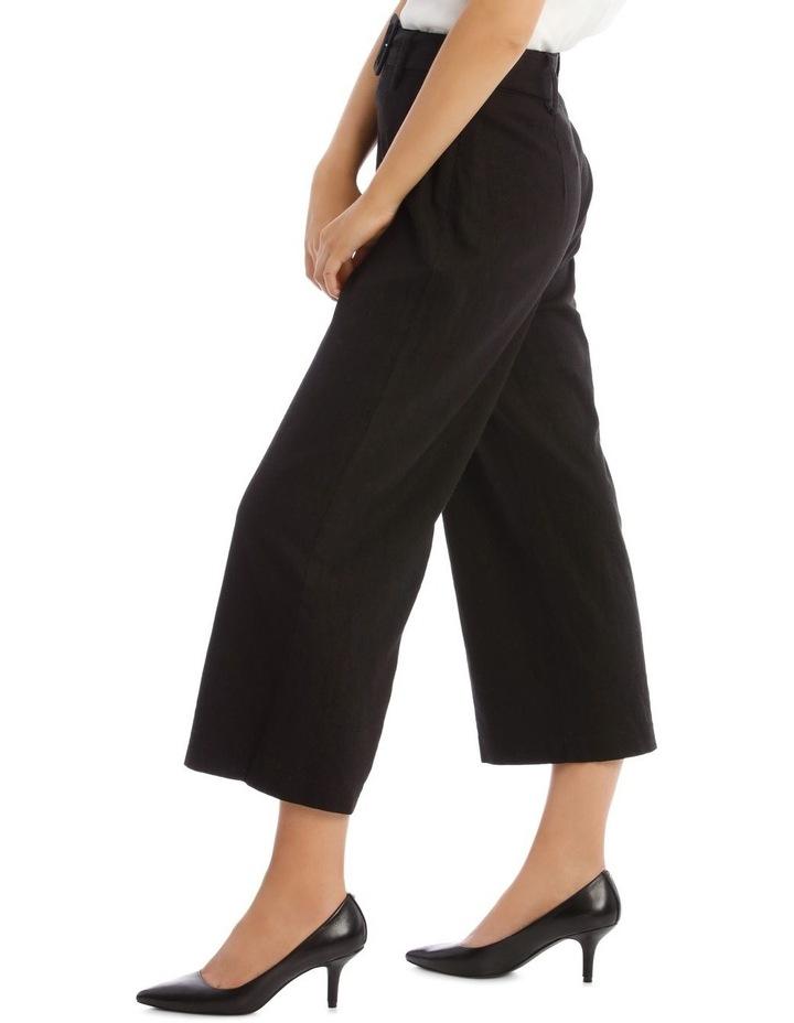 Belted Linen Culotte image 2