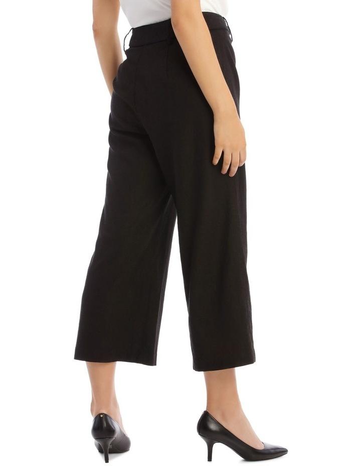 Belted Linen Culotte image 3