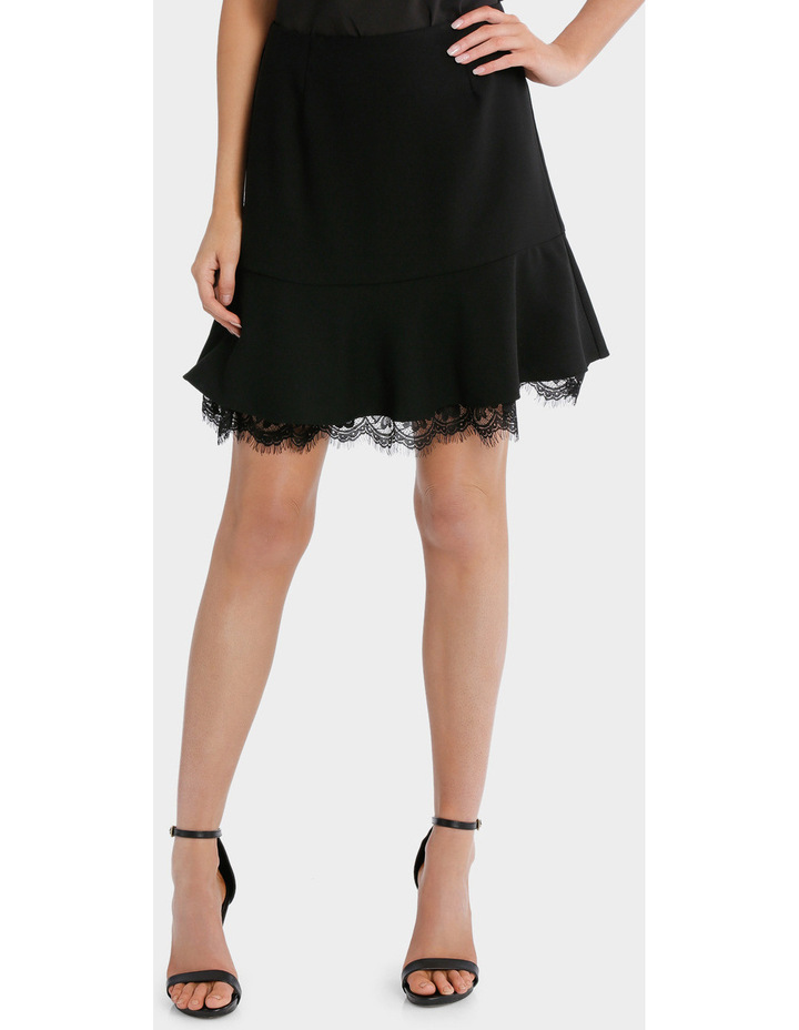 Frill Peplum Skirt With Lace image 1