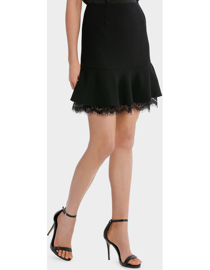 Frill Peplum Skirt With Lace image 2