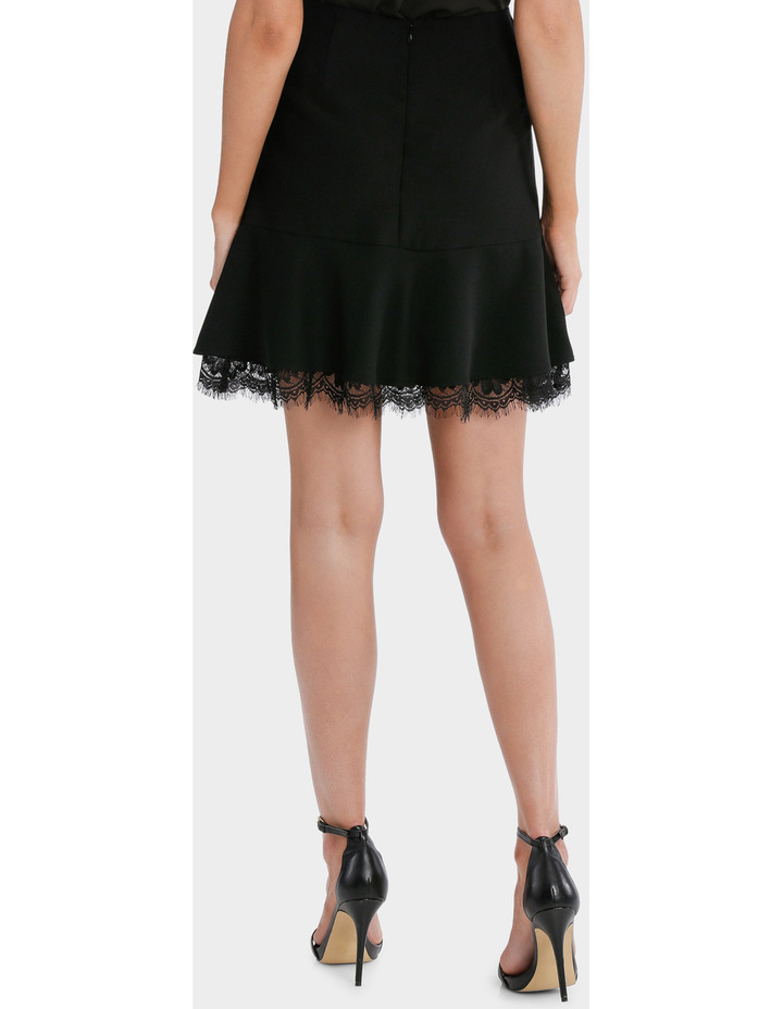 Frill Peplum Skirt With Lace image 3