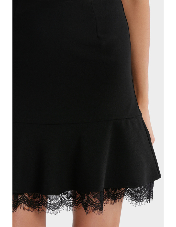 Frill Peplum Skirt With Lace image 4