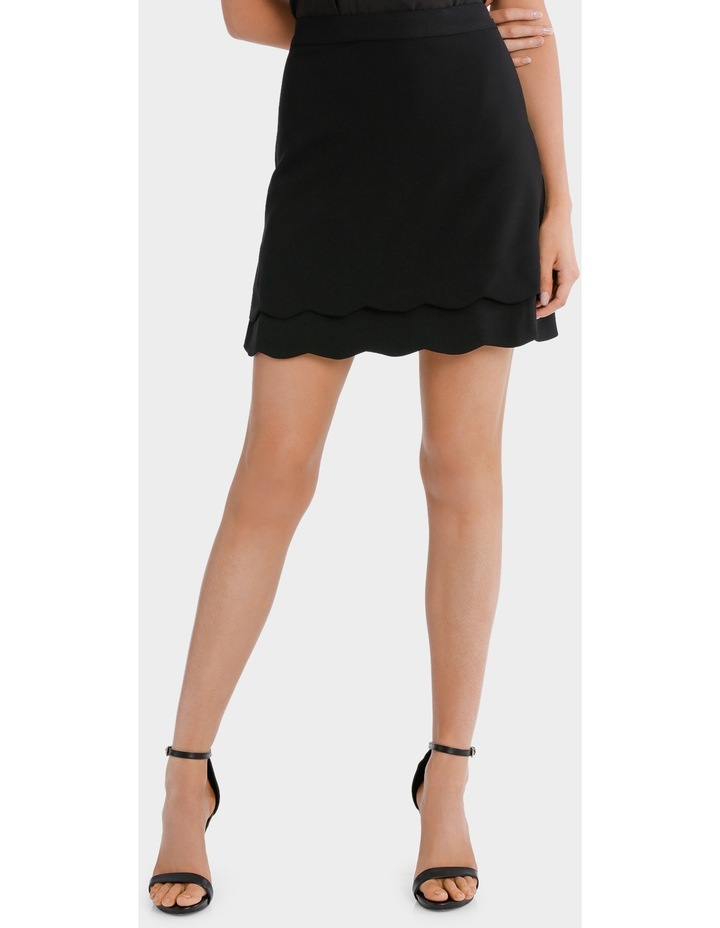scalloped hem skirt image 1