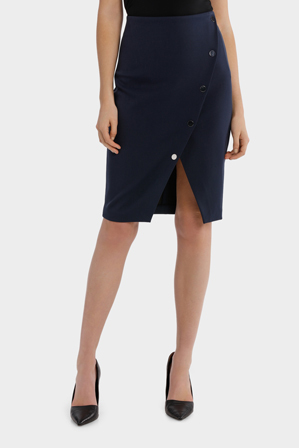 Tokito Petites - Asymmetrical Button Up Skirt