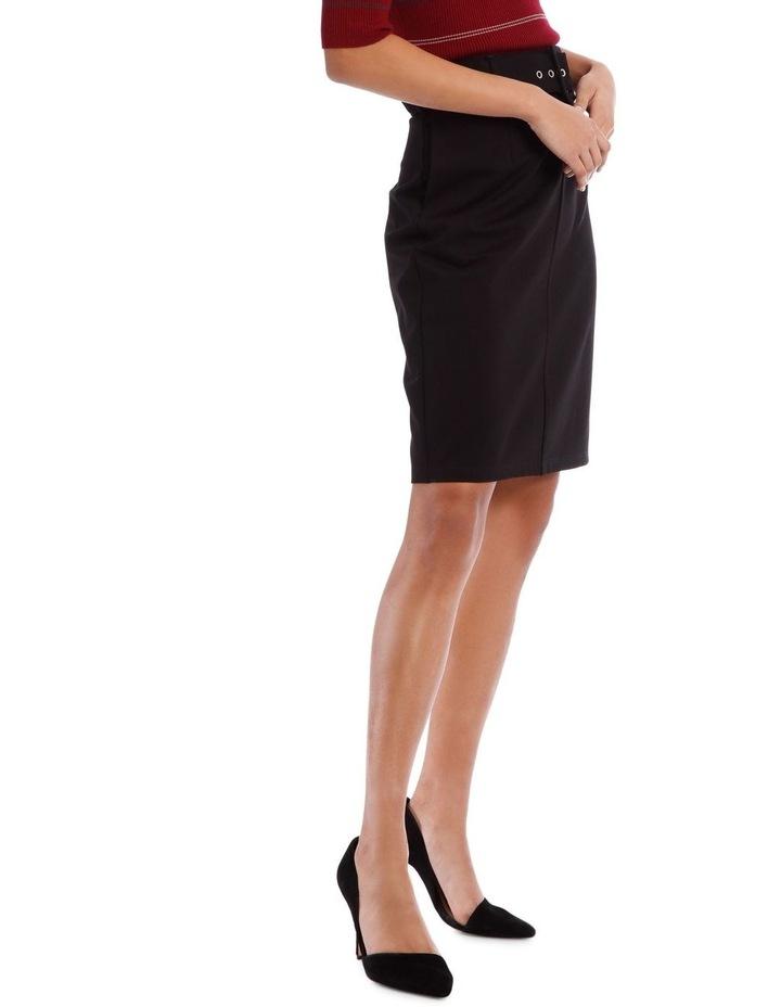 Self Belt Pencil Skirt image 2