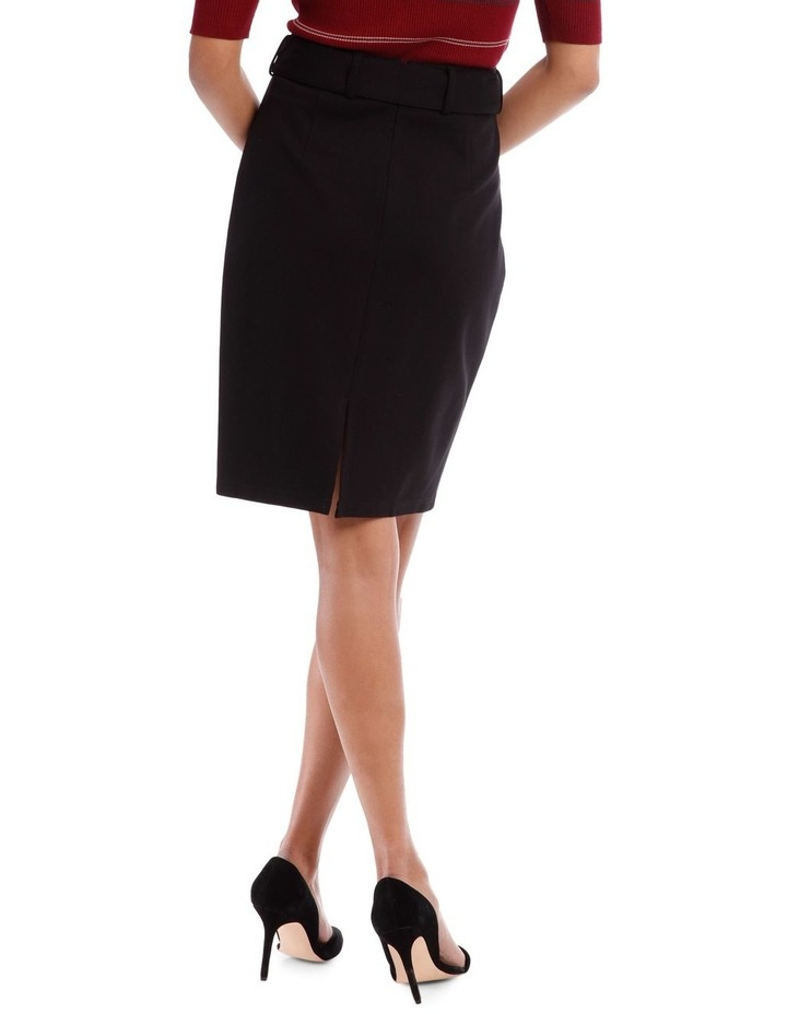 Self Belt Pencil Skirt image 3