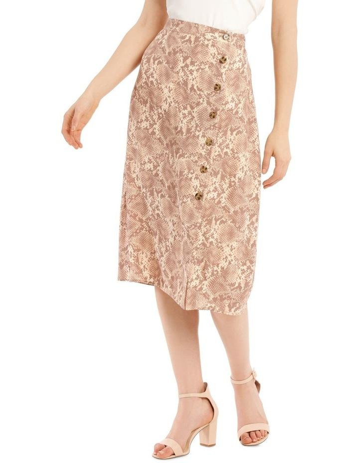 Button Up Midi Skirt - Snake Print image 2