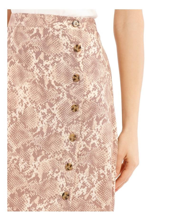 Button Up Midi Skirt - Snake Print image 4