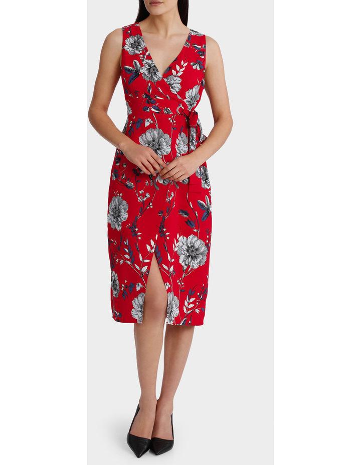 Eyelet Wrap Midi Dress image 1