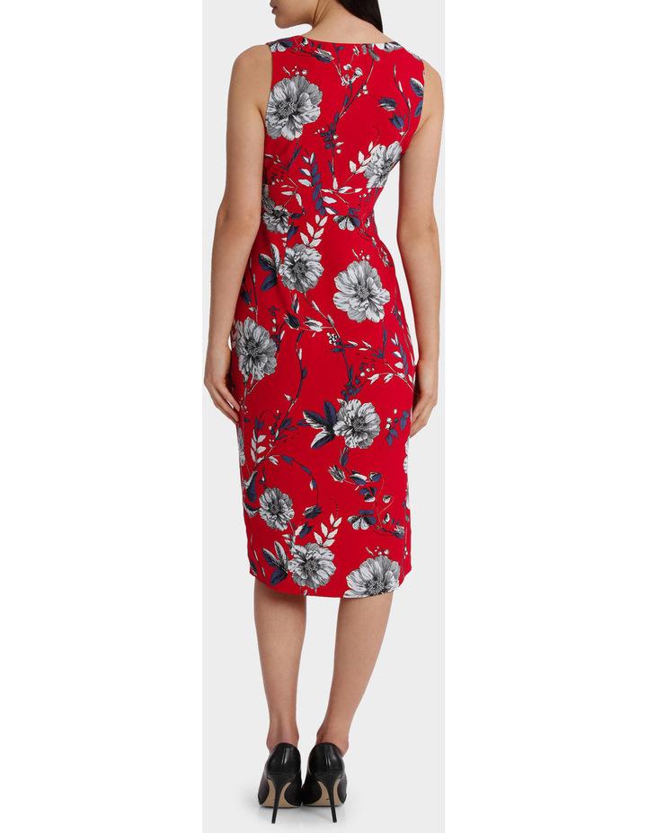 Eyelet Wrap Midi Dress image 3