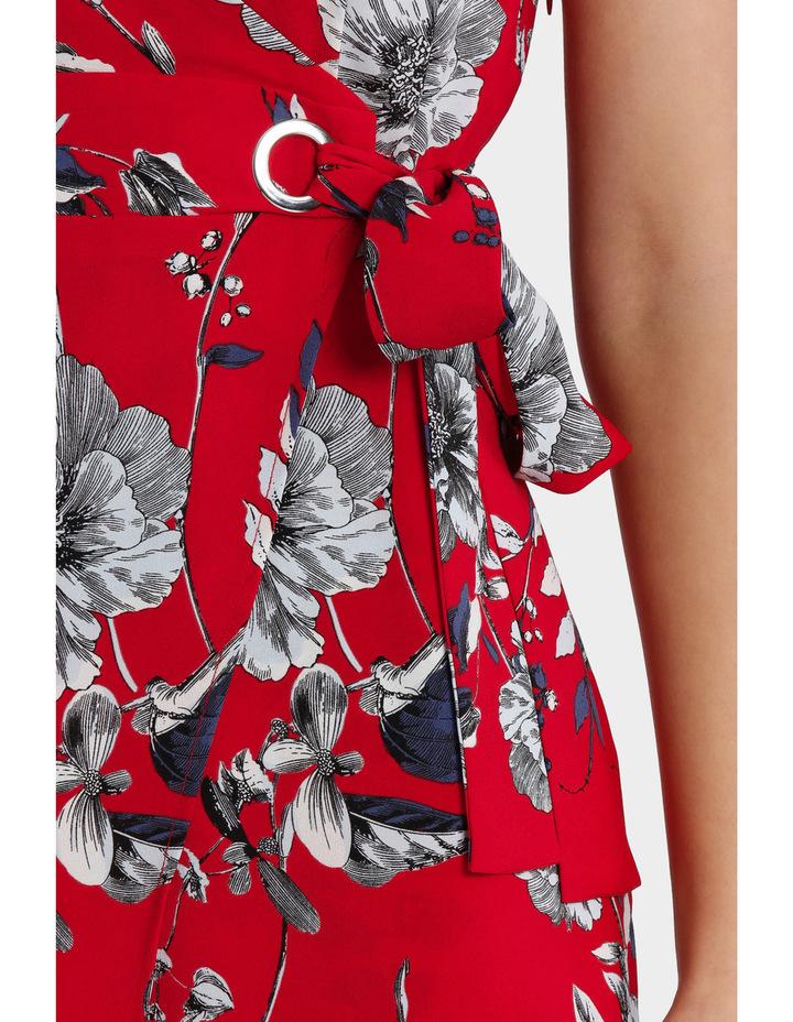 Eyelet Wrap Midi Dress image 4