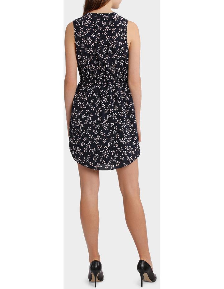Elastic Waist Collarless Shirt Dress image 3