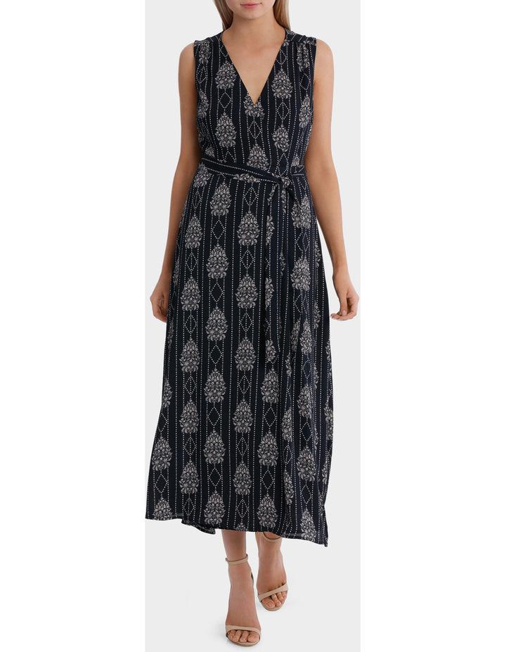 maxi wrap dress - romantic paisley image 1
