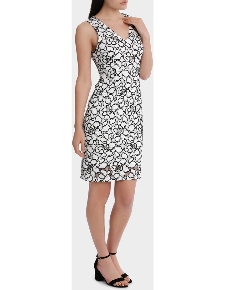 lace v-neck dress image 1